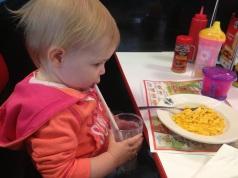Crushing her shake from Steak'n'Shake