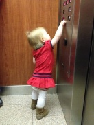 Stella was a pro at pushing the emergency button, thanks to some coaching by Ann. :)