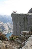 Hiking Preikestolen in Norway with my family! - http://en.wikipedia.org/wiki/Preikestolen