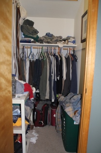 Charlie's work clothes closet that I never go into.
