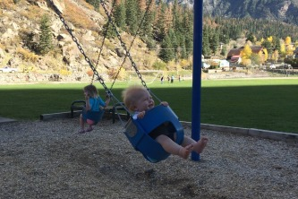 Harv loves the swing ;)
