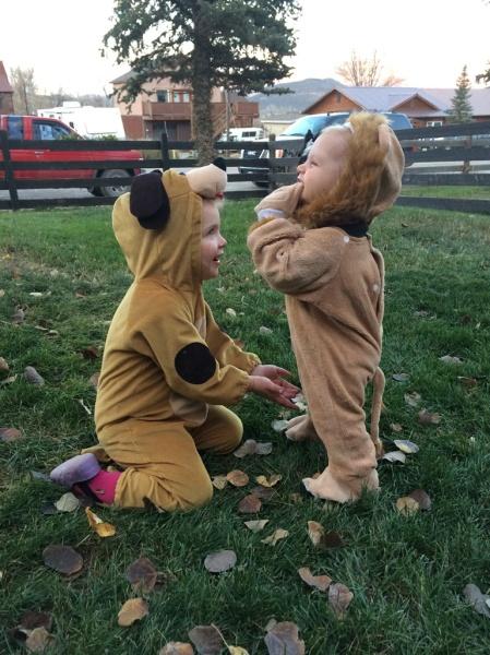 The cutest little puppy dog & lion evaaa!