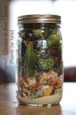 Apple Walnut Chicken Blue Cheese Mason Jar Salad