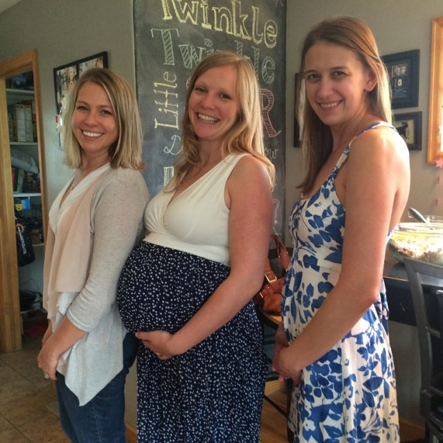 Me and my two best friends. Last time we took a picture like this, the opposite women were pregnant. :)