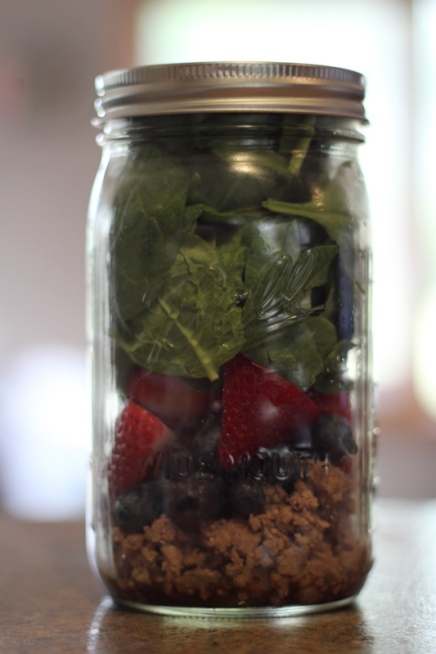 Steak, Beef, & Berry Salad, Mason Jar Salads, 21 Day Fix Approved