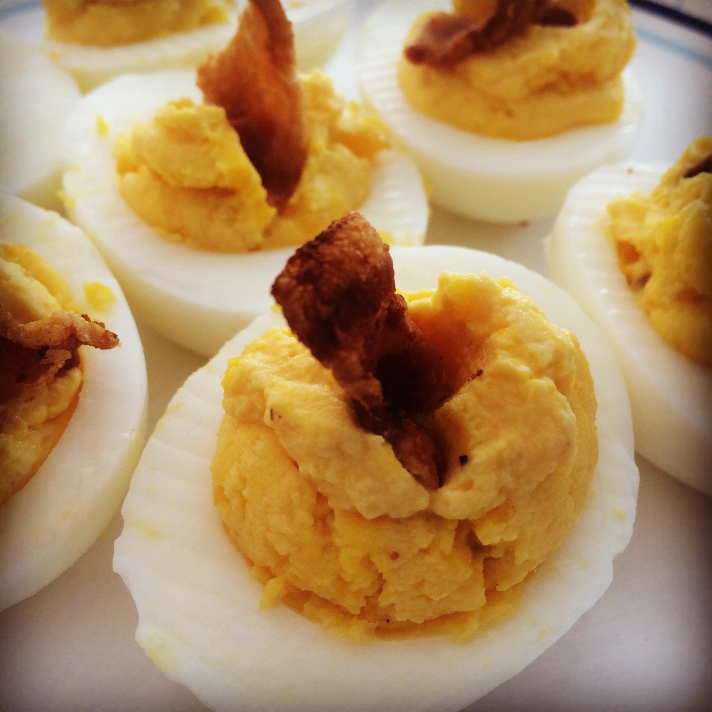 Healthy Hard Boiled Eggs made with Greek Yogurt instead of mayo!