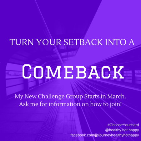 Turn your SETBACK into a COMEBACK